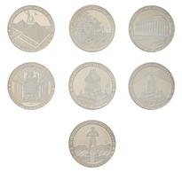 Kuba: Set 7 X 10 Pesos 1997 Die 7 Weltwunder Der Antike. KM# 593 - KM# 599. Jede Münze Wiegt 15 G Un - Cuba