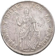 Peru: 8 Reales 1833 B, Cuzco, KM# 142.4, 26,77 G, Kratzer, Sehr Schön. - Peru