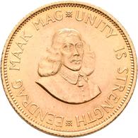 Südafrika - Anlagegold: 2 Rand 1963, KM# 64, Friedberg 11. 7,99 G, 917/1000 Gold. Kl. Kratzer, Fast - South Africa