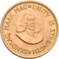 Südafrika - Anlagegold: Südafrika: Lot 3 Stück; 2 Rand 1968, KM #64, Friedberg 11. Je 7,99 G, 917/10 - South Africa