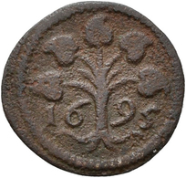 Surinam: Suriname / Dutch Guiana: Lot 3 Münzen. 2 Duit 1679 (Papagei Auf 2-Blätter-Zweig) Prägung Vo - Surinam 1975 - ...