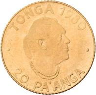 Tonga - Anlagegold: Topou IV. 1965-2006: 20 Pa'anga 1980, F.A.O., Rural Women's Advancement. KM# 65, - Tonga