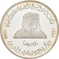 Vereinigte Arabische Emirate: 50 Dirhams 1996, 30. Thronjubiläum / 30th Anniversary Reign Of Shaik Z - United Arab Emirates