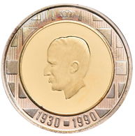 Belgien - Anlagegold: Baudouin I. 1951-1993: Lot 2 Münzen: 10 Ecu + 20 Ecu 1990, 60 Geburtstag. Zent - Non Classificati