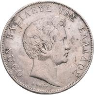 Griechenland: Otto I. 1832-1862: 5 Drachmen 1833 A, Davenport 115, 21,82 G, Sehr Schön. - Greece