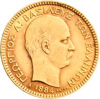 Griechenland - Anlagegold: George I. 1863-1913: 20 Drachmen 1884 A, KM# 56, Friedberg 18. 6,42 G, 90 - Greece