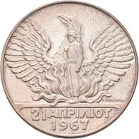 Griechenland: Constantin II., 1964-1973: 100 Drachmen 1967, 24,94 G, Stempelglanz. - Greece
