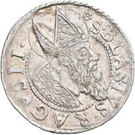 Kroatien: Republik Ragusa: 3 Gröscher (Artiluk) 1630. Brustbild Des Hl. Blasius. RAGVSII S BLASIUS / - Croatia