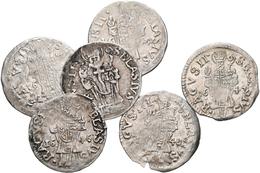 Kroatien: Republik Ragusa: Lot 6 Stück: Denar / Grossetto 1644; 1646; 1647; 1648; 1649; Ohne Jahresz - Croatia