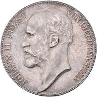 Liechtenstein: Johann II. 1858-1929: 5 Kronen 1915, Dav. 216, HMZ 2-1376e, Auflage 10.000 Exemplare, - Liechtenstein