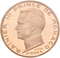 Monaco - Anlagegold: Rainier III. 1949-2005: 5 Francs 1966, 100 Jahre Monte Carlo. Probe (Essai) Von - Monaco