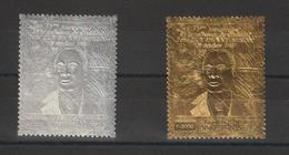 Cote D'Ivoire 1980 Timbre Argent Or PA 75-76 Houphouet-Boigny ** MNH - Ivory Coast (1960-...)