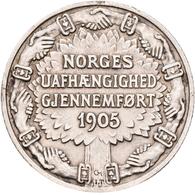 Norwegen: Haakon VII. 1905-1957: 2 Kronen 1906 Auf Die Unabhängigkeit 1905. KM# 363, Ahlström 3. Seh - Norway