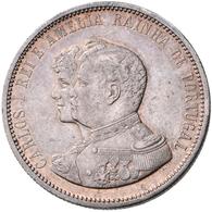 Portugal: Carlos I. 1889-1908: Lot 2 Stück; 1000 Reis 1898, 400-Jahrfeier Der Entdeckung Indiens, K. - Portugal
