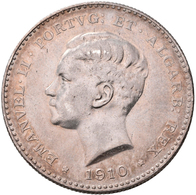 Portugal: Manuel II. 1908-1910: 1000 Reis 1910, Lissabon, 100 Jahre Guerra Peninsular, KM 558, Daven - Portugal