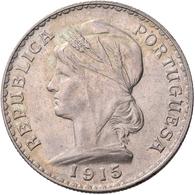 Portugal: Republik 1910-: Lot 2 Stück; 1000 Reis 1910, 1915, KM 560/564, Vorzüglich. - Portugal