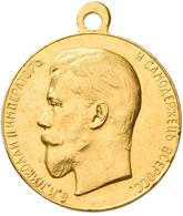 Russland: Nikolaus II. 1894-1917: Goldmedaille O.J. (1894), Für Eifer/ Fleiß. 24,14 G, Av.: Kopf Nac - Russia