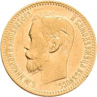 Russland - Anlagegold: Nikolaus II. 1894-1917: 5 Rubel 1898 (AG - Avraam Hutseus). KM Y# 62, Friedbe - Russia