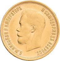 Russland - Anlagegold: Nikolaus II. 1894-1917: 10 Rubel 1899 (FZ - Felix Zaleman), KM Y# 64, Friedbe - Russia