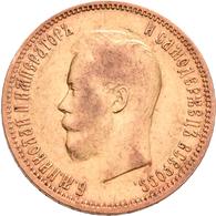 Russland - Anlagegold: Nikolaus II. 1894-1917: 10 Rubel 1900 (FZ - Felix Zaleman). KM Y# 64, Friedbe - Russia