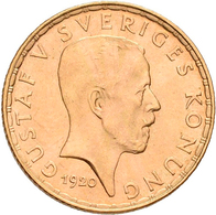 Schweden - Anlagegold: Gustav V. 1907-1905: 5 Kronor 1920. KM# 797, Friedberg 97. 2,24 G, 900/1000 G - Sweden