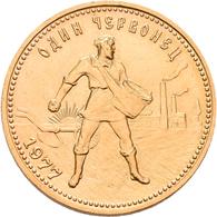 Sowjetunion - Anlagegold: 10 Rubel 1977 (Tscherwonez), KM# Y 85, Friedberg 181a. 8,56 G, 900/1000 Go - Russia