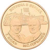 Sowjetunion: Set 2 Medaillen 1989 Auf Den Staatsbesuch Michael Gorbatschows In Deutschland / State V - Russia