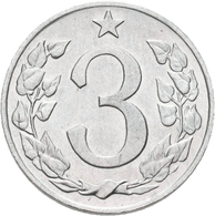 Tschechoslowakei: 3 Heller / Halere 1962 RR !, Seltener Jahrgang, KM# 52, Novotny 58, Aluminium, Vor - Czechoslovakia