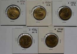 Tschechoslowakei: Lot 5 Münzen: 10 Kcs 1990 T.G. Masaryk, Lt. Beschreibung Alle 5 Varianten: 3 X MR, - Tschechoslowakei
