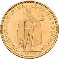 Ungarn - Anlagegold: Franz Joseph I. 1848-1916: 20 Kronen / Korona 1896 KB, KM# 486, Friedberg 250. - Hungary