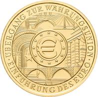 Deutschland - Anlagegold: 100 Euro 2002 Währungsunion (D), In Originalkapsel, Jaeger 493, Gold 999/1 - Germania