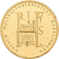 Deutschland - Anlagegold: 2 X 100 Euro 2003 Quedlinburg (A - Berlin), In Originalkapsel Und Etui, Mi - Germania