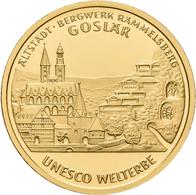 Deutschland - Anlagegold: 2 X 100 Euro 2008 Altstadt Goslar (D,F), In Originalkapsel Und Etui, Mit Z - Germania