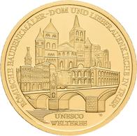 Deutschland - Anlagegold: 2 X 100 Euro 2009 Trier (A,D), In Originalkapsel Und Etui, Mit Zertifikat, - Germania