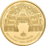 Deutschland - Anlagegold: 3 X 100 Euro 2010 Würzburger Residenz (A,D,J), In Originalkapsel Und Etui, - Germania
