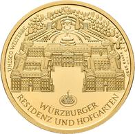 Deutschland - Anlagegold: 100 Euro 2010 Würzburger Residenz (J - Hamburg), In Originalkapsel Und Etu - Germania