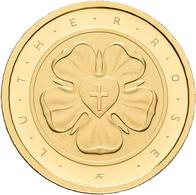 Deutschland - Anlagegold: 50 Euro 2017 Lutherrose (J - Hamburg), In Originalkapsel Und Etui, Mit Zer - Germania