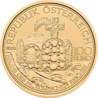 Österreich - Anlagegold: 100 Euro 2008 Kronen Der Habsburger - Die Krone Des Hl. Römischen Reiches. - Austria