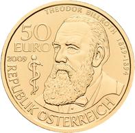 Österreich - Anlagegold: Lot 3 Goldmünzen: 50 Euro 2009 Grosse Mediziner: Theodor Billroth. KM# 3171 - Austria
