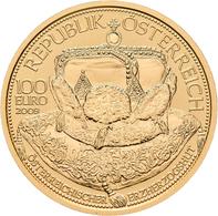 Österreich - Anlagegold: 100 Euro 2009 Kronen Der Habsburger - Der österreichische Erzherzogshut. Da - Austria
