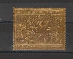 Dahomey 1969 Timbre Or PA 106 Espace Apollo VIII ** MNH - Bénin – Dahomey (1960-...)