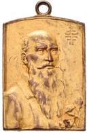 Medaillen Deutschland: Cannstatt/Stuttgart: Vergoldete Bronzeplakette 1902, Unsigniert, Kreisturnfah - Germany