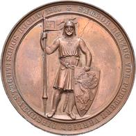 Medaillen Deutschland: Dirschau-Pommern: Bronzemedaille 1860 Von Kullrich, Auf Die Einweihung Der Ei - Germany