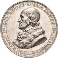 Medaillen Deutschland: Dresden: Nickelmedaille 1883 Von A. Scharff, Auf Karl Friedrich Wilhelm Erbst - Germany