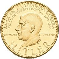 Medaillen Deutschland: Drittes Reich 1933-1945: Adolf Hitler (1889-1945); Goldmedaille 1957 Der Banc - Germany