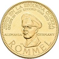 Medaillen Deutschland: Drittes Reich 1933-1945: Erwin Rommel (1891-1944); Goldmedaille 1957 Der Banc - Germany