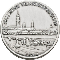 Medaillen Deutschland: Erlangen: Steck-Medaille 1976, Stadtansicht / Grundriss Der Stadt, Inhalt: 16 - Germany