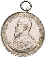 Medaillen Deutschland: Gundelfingen: Silbermedaille 1896 Von A. Börsch, Av: Brustbild Prinzregent Lu - Germany