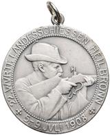 Medaillen Deutschland: Heilbronn: Silbermedaille 1908, Geprägt Bei Mayer & Wilhelm Stuttgart, Auf Da - Germany