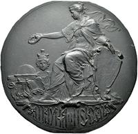 Medaillen Deutschland: Jugendstil: Eisengussmedaille 1908. Göttin Mit Schild Und Siegerkranz, Mit Ky - Germany